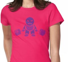Cute Weightlifting Robot - Deadlift (Purple) Womens Fitted T-Shirt