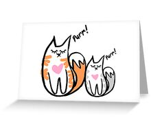 Love Cats Design Greeting Card