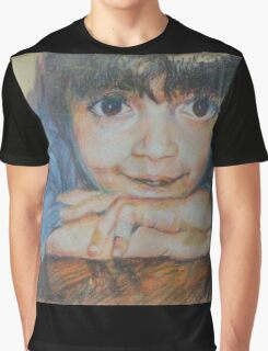Pensive - A Portrait Of A Boy Graphic T-Shirt