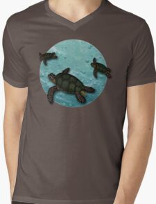 All Three Together Seaturtle Art Mens V-Neck T-Shirt