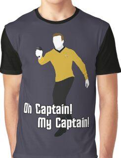 Oh Captain! My Captain! - James T. Kirk - Star Trek Graphic T-Shirt