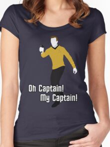 Oh Captain! My Captain! - James T. Kirk - Star Trek Women's Fitted Scoop T-Shirt