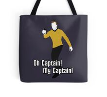 Oh Captain! My Captain! - James T. Kirk - Star Trek Tote Bag
