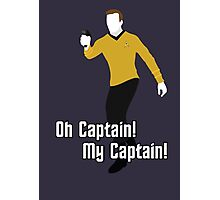Oh Captain! My Captain! - James T. Kirk - Star Trek Photographic Print