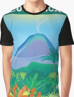 Costa Rica- Skyline Illustration By Loose Petals Graphic T-Shirt
