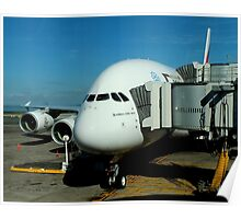 Emirates Airbus A380 Poster