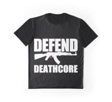 Defend Deathcore - White Graphic T-Shirt