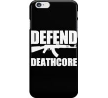 Defend Deathcore - White iPhone Case/Skin
