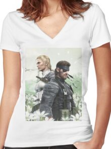 MGS Women's Fitted V-Neck T-Shirt