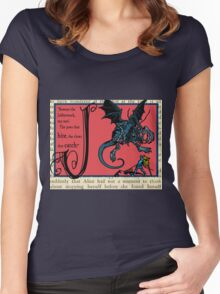 Alice in Wonderland and Through the Looking Glass Alphabet J Women's Fitted Scoop T-Shirt