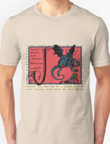 Alice in Wonderland and Through the Looking Glass Alphabet J T-Shirt