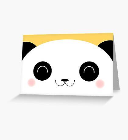 Peekaboo - Happy Kawaii Panda Card Version Greeting Card