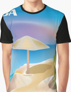 Aruba- Skyline Illustration By Loose Petals Graphic T-Shirt