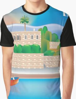 Beirut- Skyline Illustration By Loose Petals Graphic T-Shirt