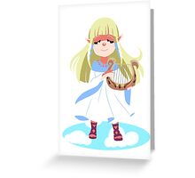 Skyward Sword Zelda Greeting Card