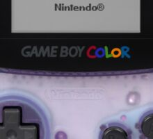 Gameboy Color Translucent Purple Sticker