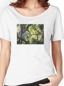 Black crowned Night Heron Women's Relaxed Fit T-Shirt