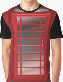 London Red Phone Booth Box  Graphic T-Shirt