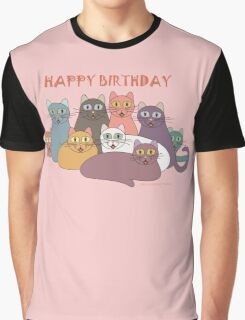 HAPPY BIRTHDAY by NINE CATS  Graphic T-Shirt