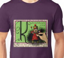 Alice in Wonderland and Through the Looking Glass Alphabet K Unisex T-Shirt