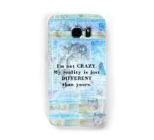 Alice in Wonderland  crazy quote Samsung Galaxy Case/Skin