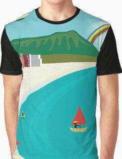 Oahu, Hawaii- Skyline Illustration By Loose Petals Graphic T-Shirt