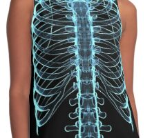 Funny(ish) X-Ray Effect Graphic Contrast Tank
