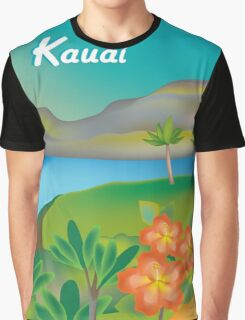 Kauai, Hawaii- Skyline Illustration By Loose Petals Graphic T-Shirt