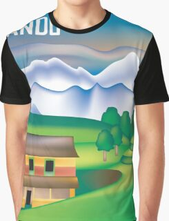 Kathmandu, Nepal- Skyline Illustration By Loose Petals Graphic T-Shirt