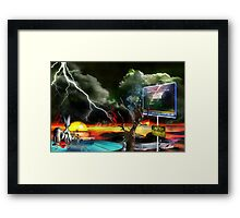 They Came, They Saw, They Wondered Framed Print
