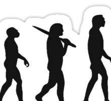 basketball evolution Sticker
