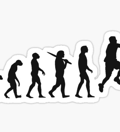 basketball evolution Sticker