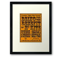 Being for the Benefit of Mr Kite - Colourway 1 Framed Print