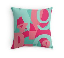 Word Pop! Throw Pillow