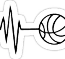 basketball heart beat Sticker