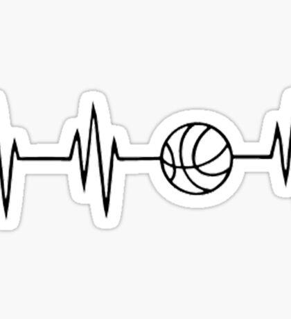 basketball heart beat Sticker