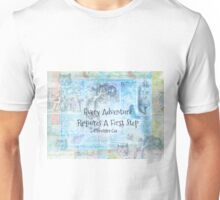 "Alice in Wonderland  ""Every Adventure Requires A First Step""  Quote Unisex T-Shirt"