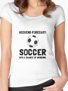 Weekend Forecast Soccer Women's Fitted Scoop T-Shirt