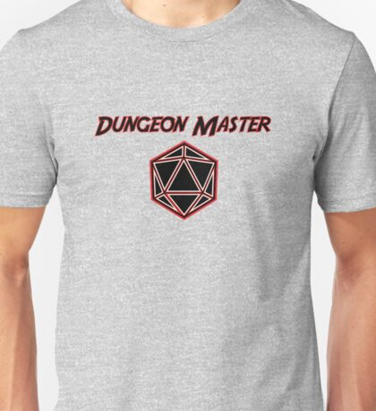 Dungeons Master Red and Black D20 Unisex T-Shirt