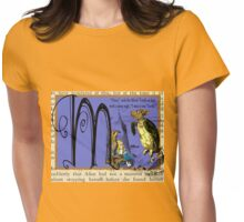 Alice in Wonderland and Through the Looking Glass Alphabet M Womens Fitted T-Shirt