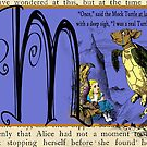 Alice in Wonderland and Through the Looking Glass Alphabet M by Samitha Hess Edwards