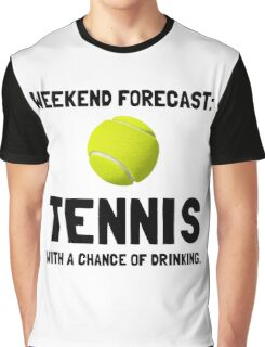 Weekend Forecast Tennis Graphic T-Shirt