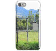Steel Gate in a Pasture iPhone Case/Skin