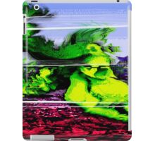 Retro Glitch Buffalo Skull iPad Case/Skin