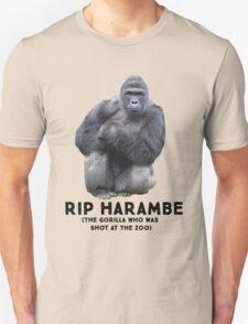 RIP HARAMBE -  BLACK TEXT Unisex T-Shirt