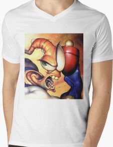 Earthworm jim Mens V-Neck T-Shirt