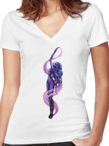 Tentacle Babe Women's Fitted V-Neck T-Shirt