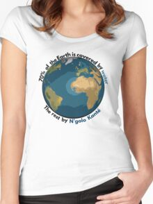 70% of the Earth is covered by water, the rest by N'golo Kanté Women's Fitted Scoop T-Shirt