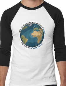 70% of the Earth is covered by water, the rest by N'golo Kanté Men's Baseball ¾ T-Shirt
