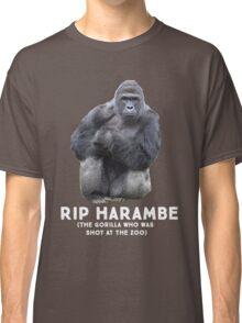 RIP HARAMBE - WHITE TEXT Classic T-Shirt